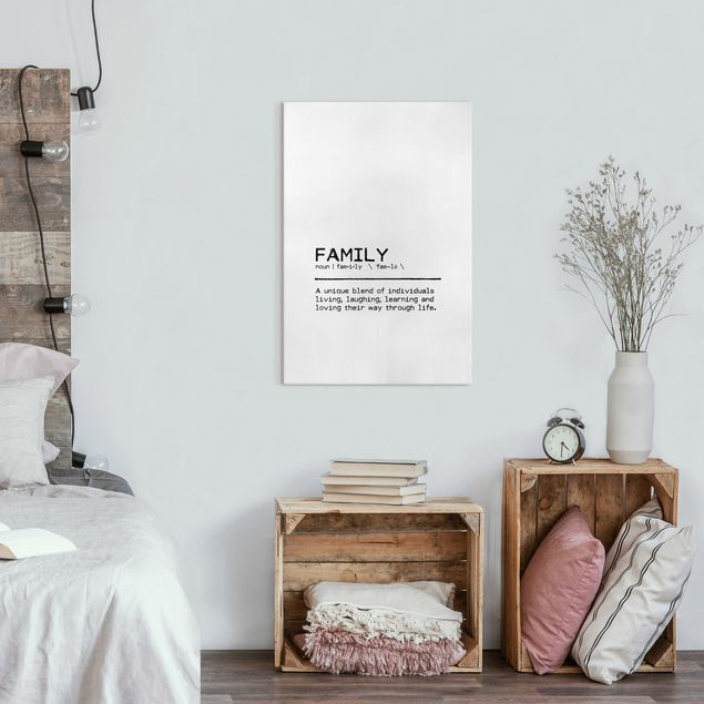 Leinwandbild - Definition Family Unique - Hochformat 2:3