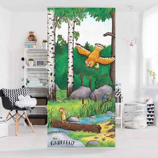 Raumteiler Kinderzimmer - Grüffelo - Die Maus trifft die Eule 250x120cm