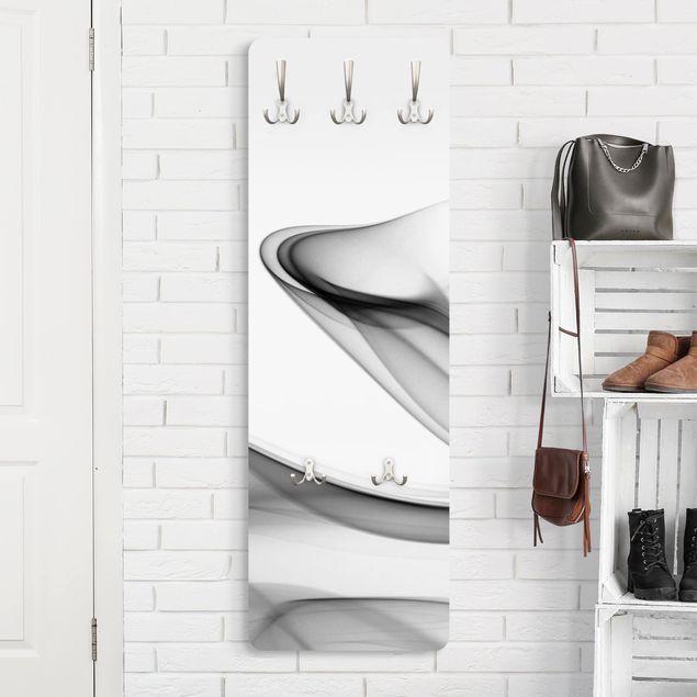 Design Garderobe - Grey Flame - Weiß