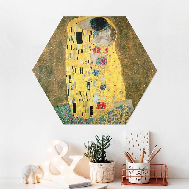 Hexagon Bild Forex - Gustav Klimt - Der Kuß