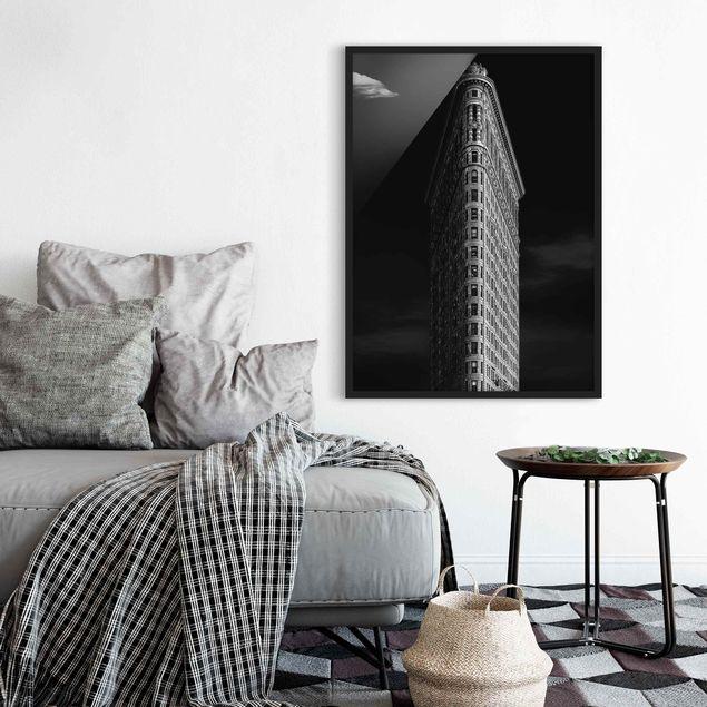 Bild mit Rahmen - Flatiron Building - Hochformat 3:4