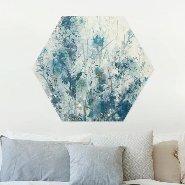 Hexagon Bild Forex - Blaue Frühlingswiese I