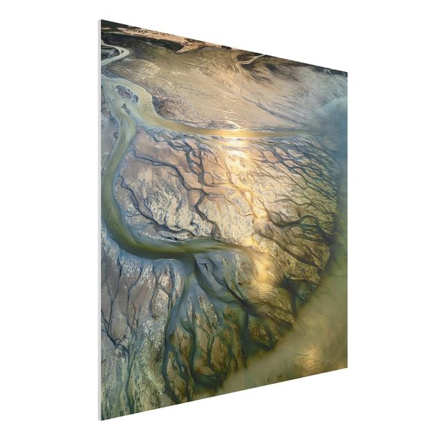 Forex Fine Art Print - Küste in Kuwait - Quadrat 1:1