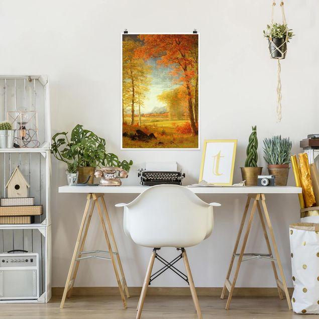 Poster - Albert Bierstadt - Herbst in Oneida County, New York - Hochformat 3:2