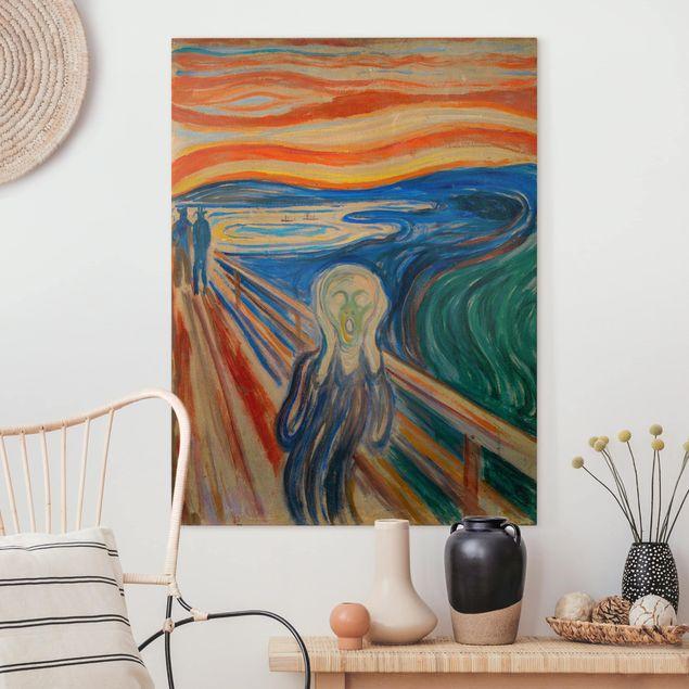 Leinwandbild - Edvard Munch - Der Schrei - Hochformat 4:3