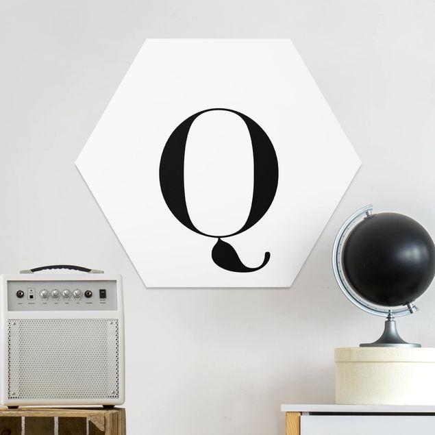 Hexagon Bild Forex - Buchstabe Serif Weiß Q