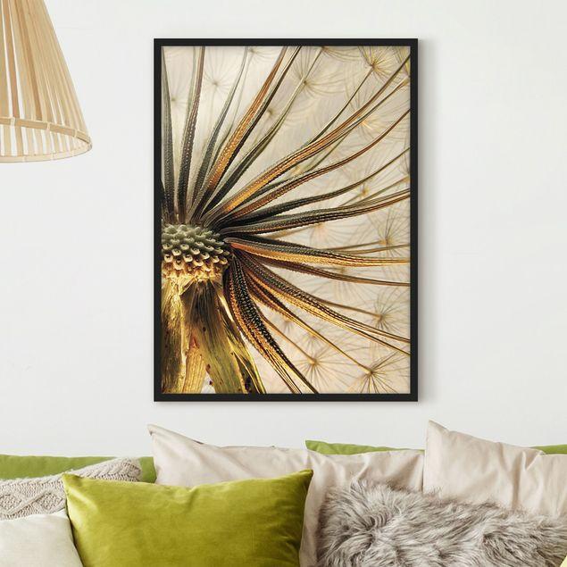 Bild mit Rahmen - Dandelion Close Up - Hochformat 3:4