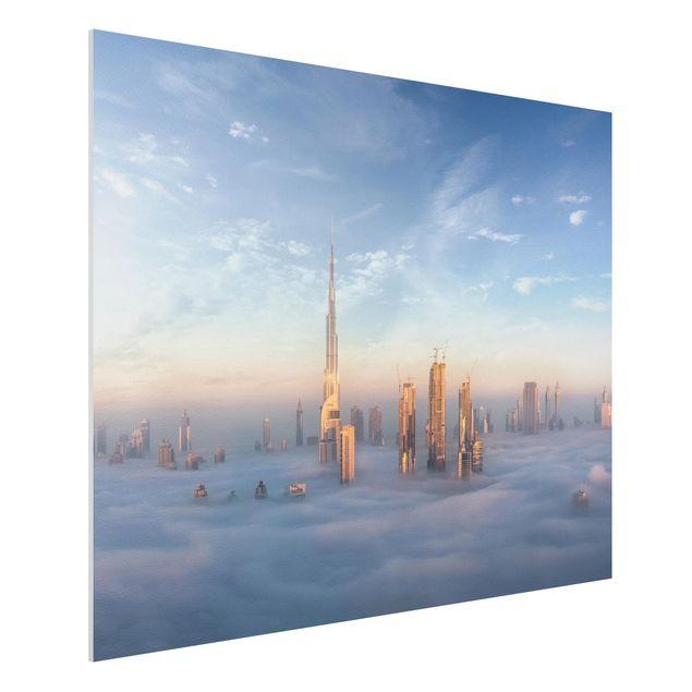 Forex Fine Art Print - Dubai über den Wolken - Querformat 3:4
