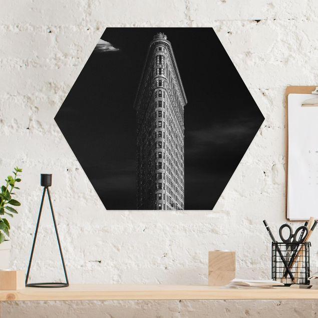 Hexagon Bild Alu-Dibond - Flatiron Building