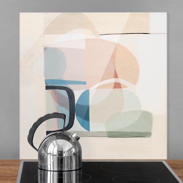 Glas Spritzschutz - Multiform III - Quadrat - 1:1