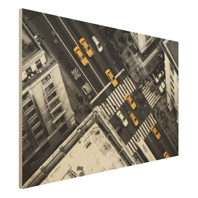 Holzbild - New York City Cabs - Querformat 2:3