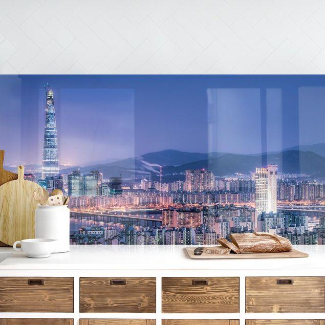 Küchenrückwand - Lotte World Tower bei Nacht