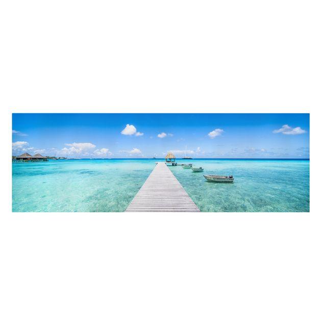 Leinwandbild - Urlaub in den Tropen - Panorama 3:1