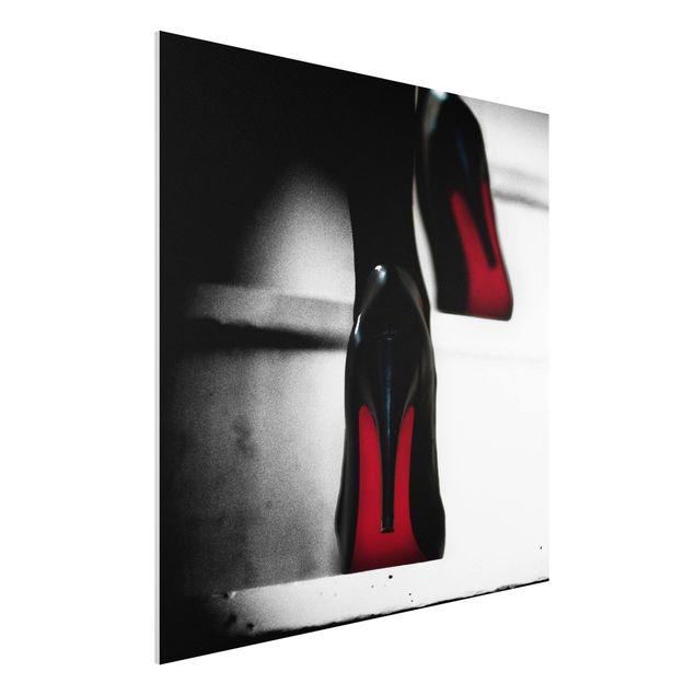 Forex Fine Art Print - High Heels in Rot - Quadrat 1:1