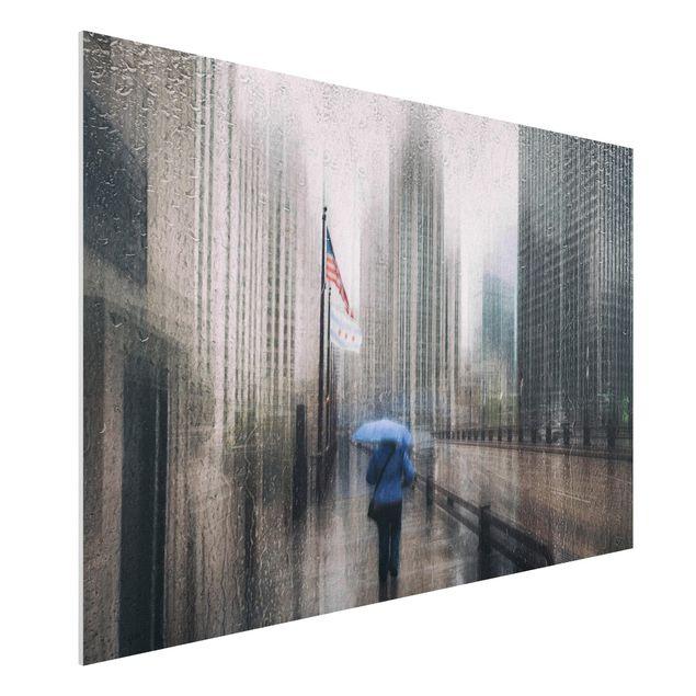 Forex Fine Art Print - Verregnetes Chicago - Querformat 2:3