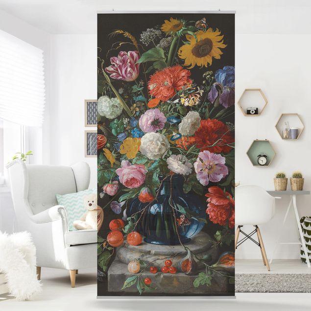 Raumteiler - Jan Davidsz de Heem - Glasvase mit Blumen - 250x120cm