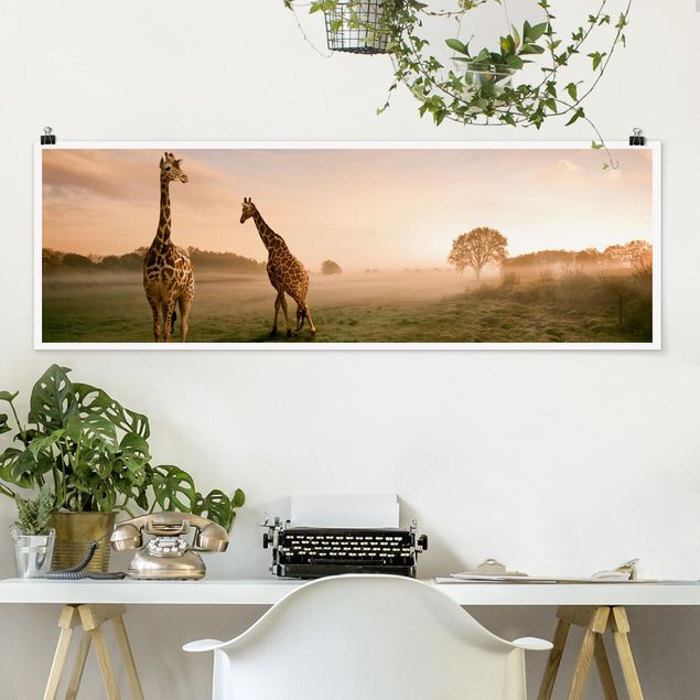 Poster - Surreal Giraffes - Panorama Querformat