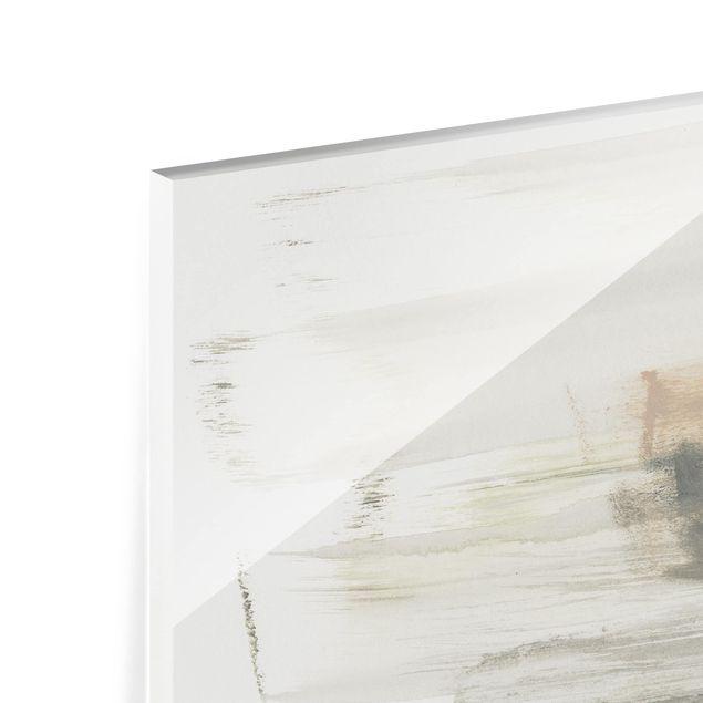 Glas Spritzschutz - Ein Hauch von Pastell I - Querformat - 4:3