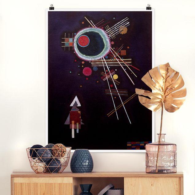 Poster - Wassily Kandinsky - Strahlenlinien - Hochformat 3:4