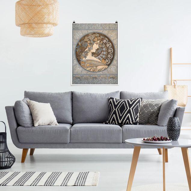 Poster - Alfons Mucha - Synthia - Hochformat 3:4
