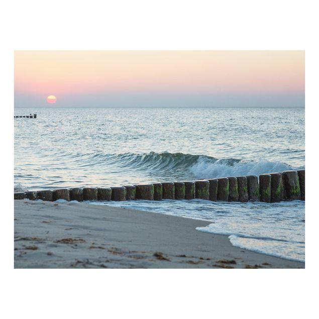 Glas Spritzschutz - Sonnenuntergang am Meer - Querformat - 4:3