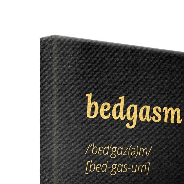 Leinwandbild Gold - bedgasm - Quadrat 1:1