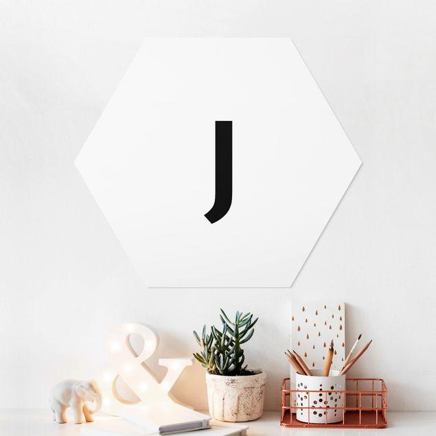 Hexagon Bild Forex - Buchstabe Weiß J