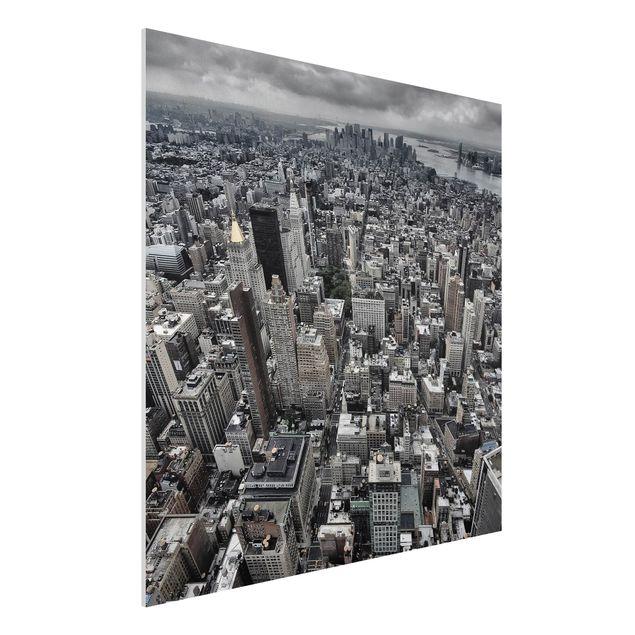 Forex Fine Art Print - Blick über Manhattan - Quadrat 1:1