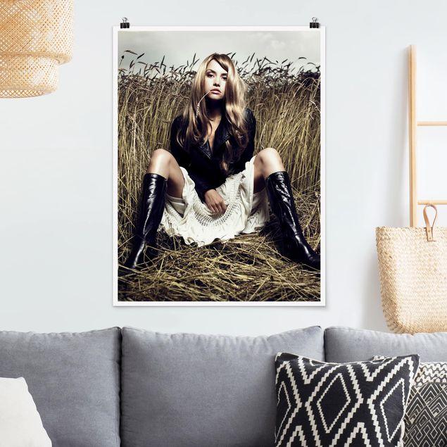 Poster - Country Girl - Hochformat 3:4