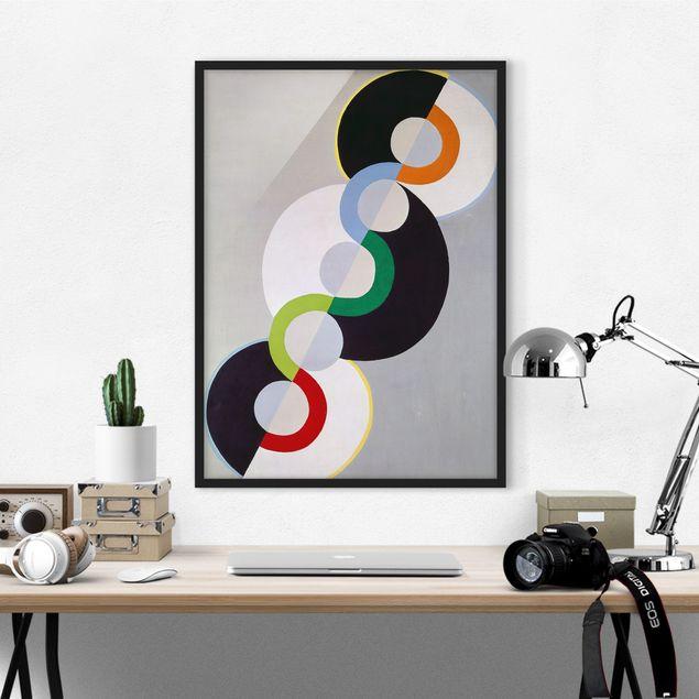 Bild mit Rahmen - Robert Delaunay - Endloser Rhythmus - Hochformat 3:4