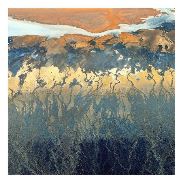 Forex Fine Art Print - Kalifornien aus der Luft - Quadrat 1:1