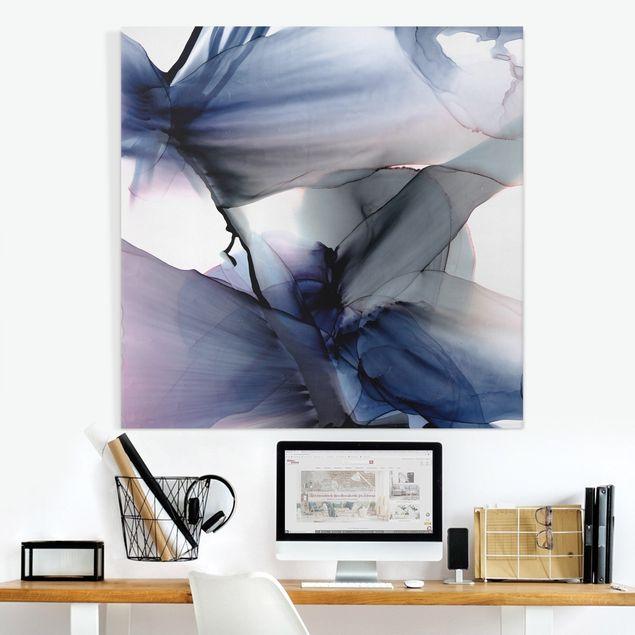 Leinwandbild - Violett im Fluss - Quadrat 1:1
