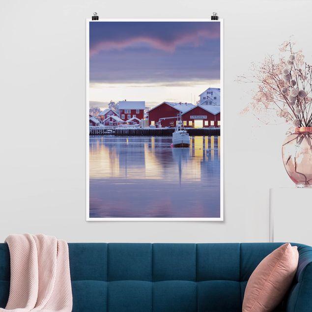 Poster - Reine in Norwegen - Hochformat 3:2