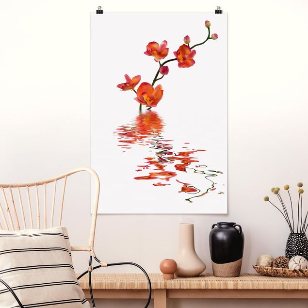 Poster - Flamy Orchid Waters - Hochformat 3:2