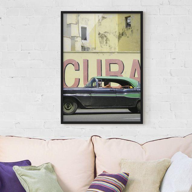 Bild mit Rahmen - Show me Cuba - Hochformat 3:4