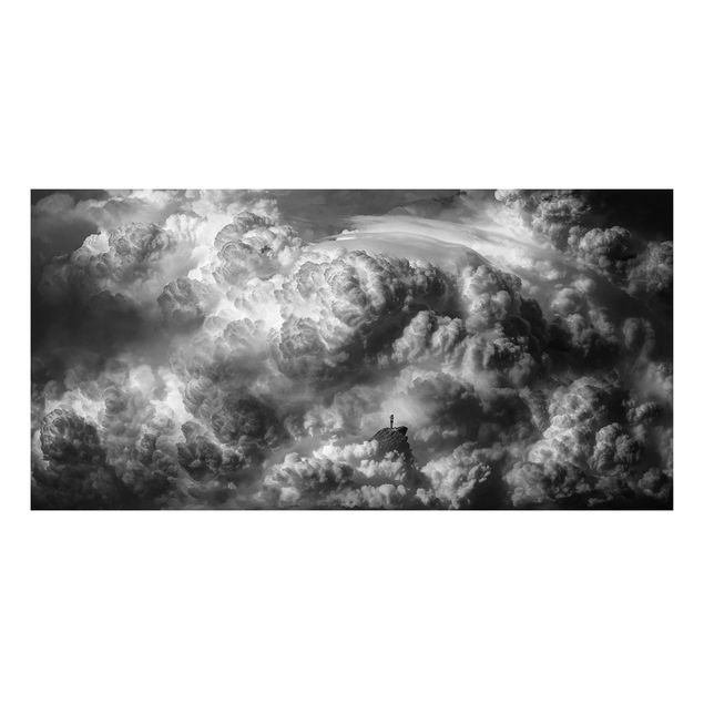 Forex Fine Art Print - Ein Sturm zieht auf - Querformat 1:2