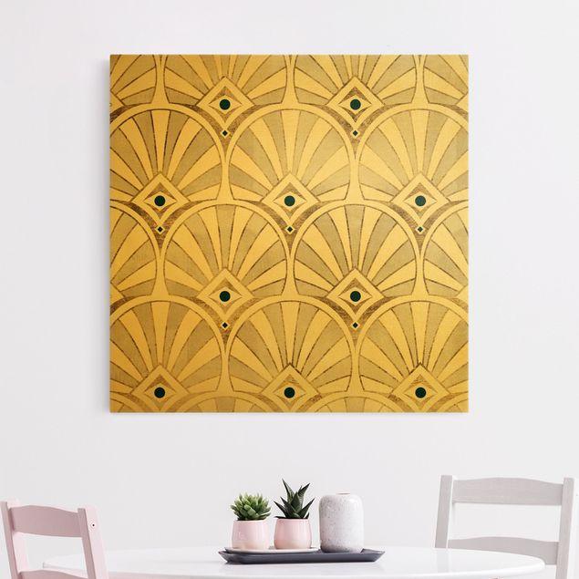 Leinwandbild Gold - Die goldenen Zwanziger - Quadrat 1:1
