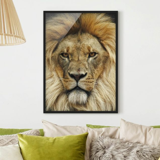 Bild mit Rahmen - Wisdom of Lion - Hochformat 3:4