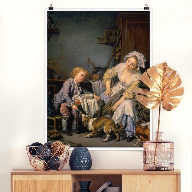 Poster - Jean Baptiste Greuze - Das verwöhnte Kind - Hochformat 3:4