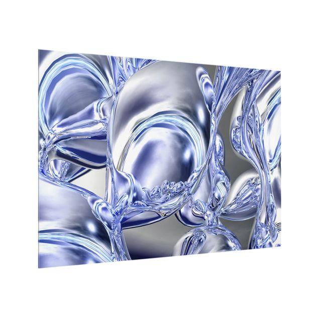 Glas Spritzschutz - Liquid Smoke - Querformat - 4:3