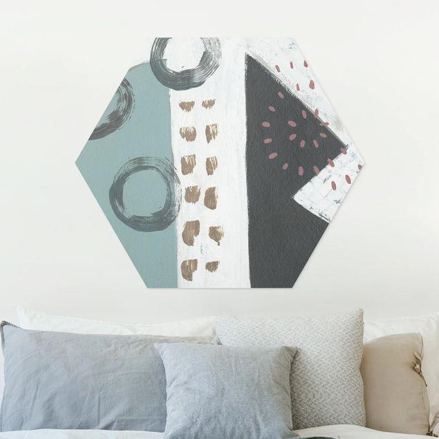 Hexagon Bild Forex - Karneval der Formen in Petrol III