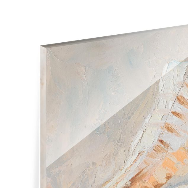 Glas Spritzschutz - Muschel-Studie I - Querformat - 4:3