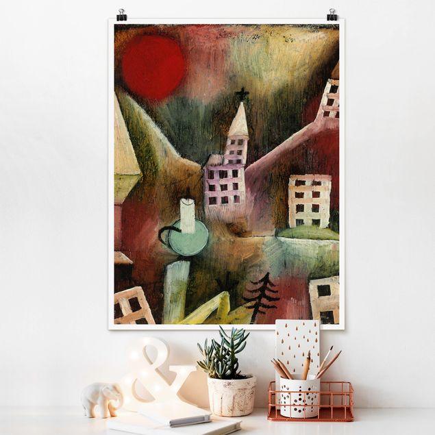 Poster - Paul Klee - Zerstörtes Dorf - Hochformat 3:4