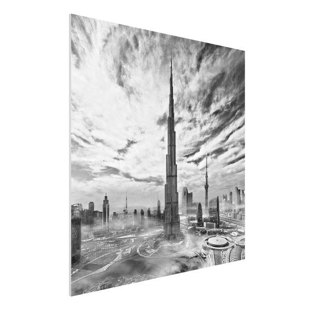 Forex Fine Art Print - Dubai Super Skyline - Quadrat 1:1