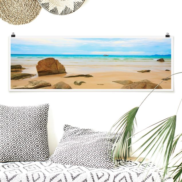 Poster - The Beach - Panorama Querformat