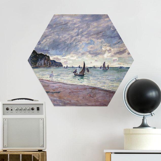 Hexagon Bild Alu-Dibond - Claude Monet - Küste von Pourville