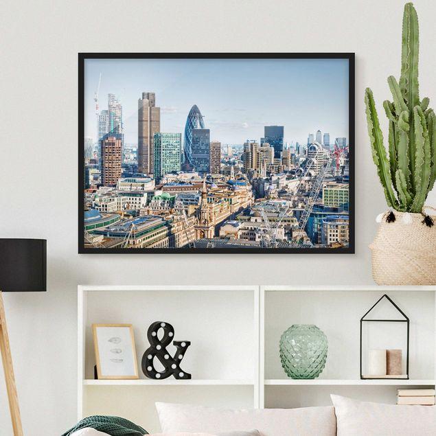 Bild mit Rahmen - City of London - Querformat 3:4