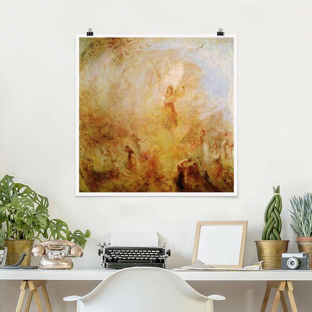 Poster - William Turner - Engel vor Sonne - Quadrat 1:1