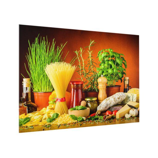 Glas Spritzschutz - Italienische Küche - Querformat - 4:3