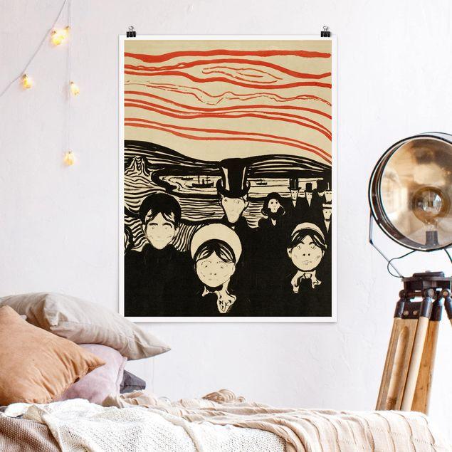 Poster - Edvard Munch - Angstgefühl - Hochformat 3:4